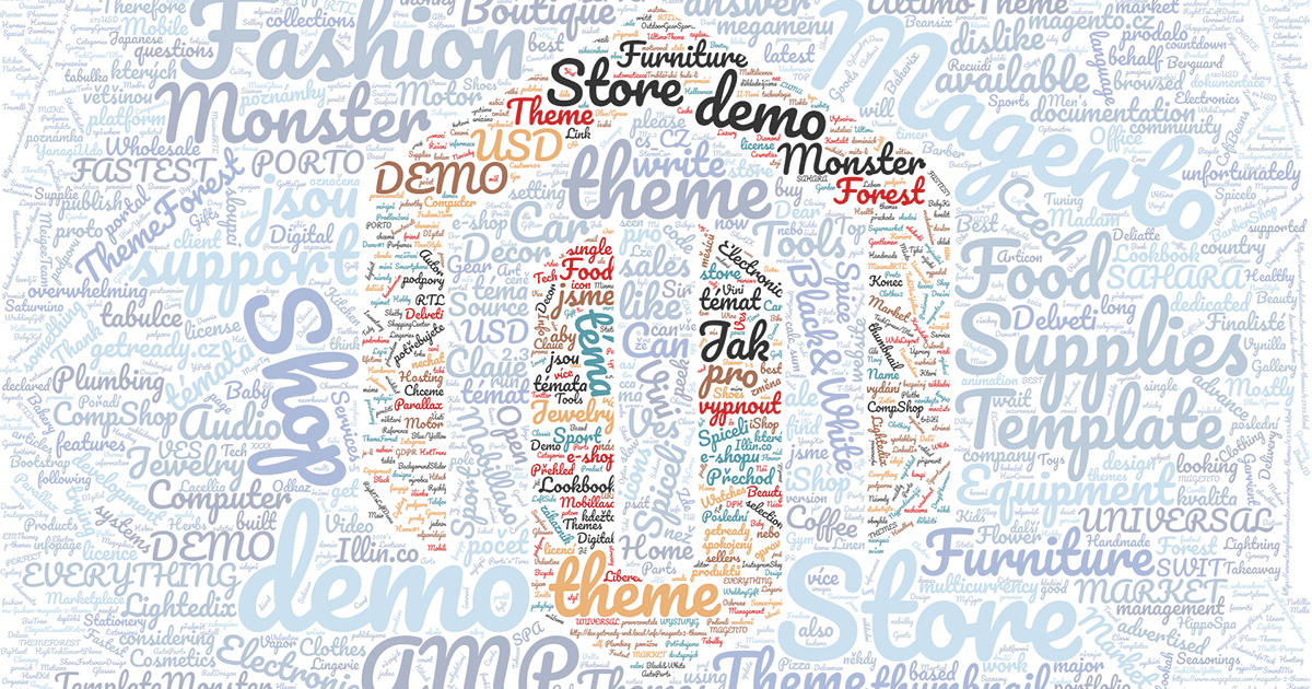 Magento 2 themes GetReady wordcloud
