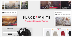Black & White Magento theme