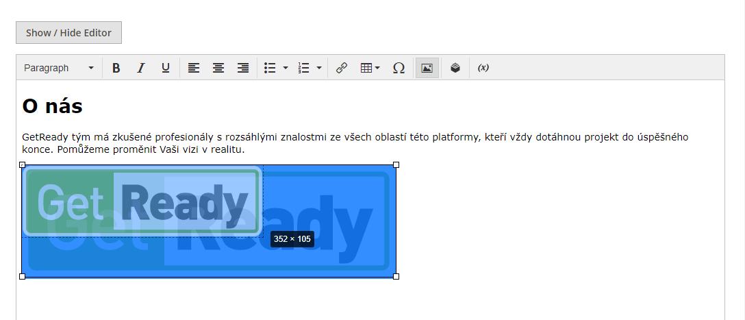 Magento - změna rozměrů obrázku v novém wysiwyg editoru