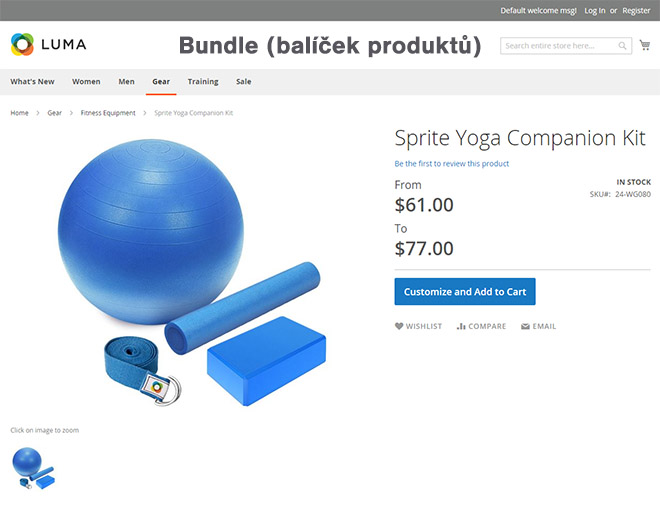 Magento typy produktů: Ukázka balíčku (bundle) produktů