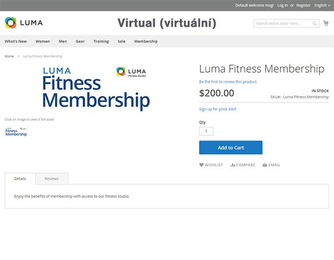 Magento typy produktů: Ukázka virtuálního (virtual) produktu