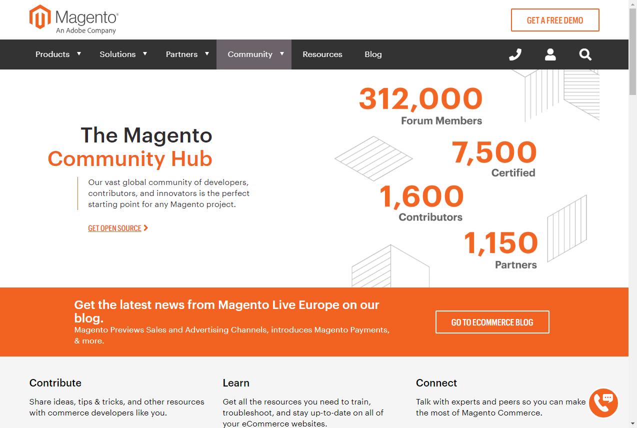 Magento Community. Zdroj: magento.com/community