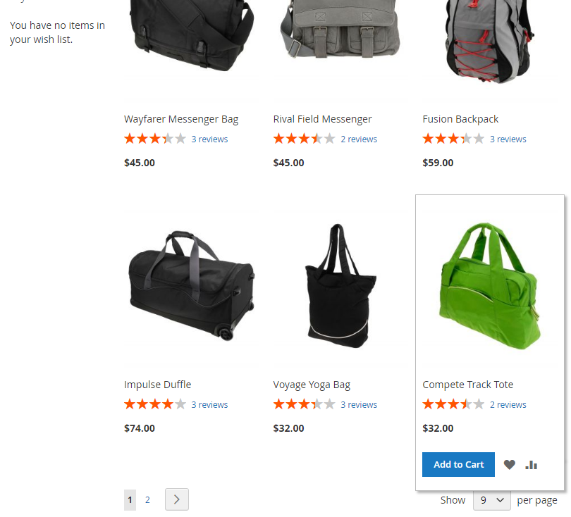 Obrázek: Link pro přidání produktu do seznamu přání na stránce kategorie (Magento2)